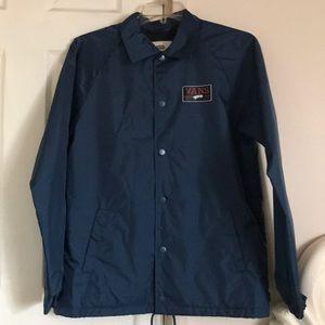 cbc4f1e8897 Vans Jackets   Coats - EUC Vans Blue Fleece Lined Windbreaker sz M